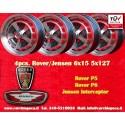4 Rover P5 P6, Jensen Interceptor 6x15 5x127 TÜV wheels