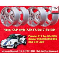 1 set 4 pcs. Porsche CUP 2 pcs. 7.5x17 ET52 + 2 pcs. 9x17 ET47 5x130 wheels