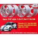 1 set 4 pc. cerchi Porsche CUP 2 pcs. 7.5x17 ET52 + 2 pcs. 9x17 ET47 5x130