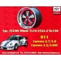 1 Stk. Felge Porsche 911 Fuchs 7x16 ET23.3 5x130 RSR Style