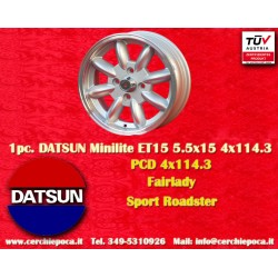 1 pc. Datsun Minilite 5.5x15 ET15 4x114.3 wheel