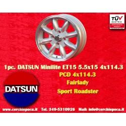 1 pz. llanta Datsun Minilite 5.5x15 ET15 4x114.3