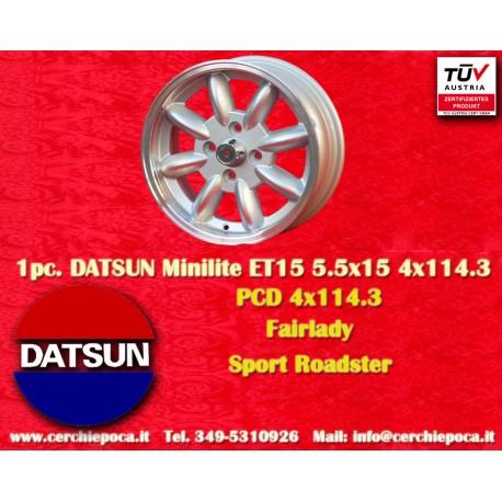 1 pc. Datsun Minilite 5.5x15 ET15 4x114.3 wheel