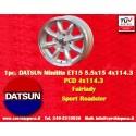 1 Stk. Felge Datsun Minilite 5.5x15 ET15 4x114.3