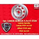 1 pc. Lancia Aurelia 5.5x15 ET28 4x145 wheel