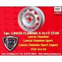 1 pc. Cerchio Lancia Flaminia Tecnomagnesio Style 5.5x15 ET40 4x145