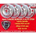 4 Stk. Felgen Lancia Aurelia 5.5x15 ET28 4x145