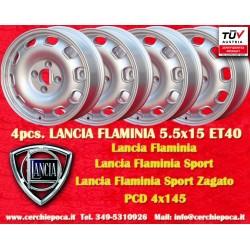 4 pcs. Lancia Flaminia Tecnomagnesio Style 5.5Jx15 ET40 4x145 wheels