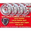 4 pcs. Llantas Lancia Flaminia 5.5x15 ET40 4x145 Tecnomagnesio Style