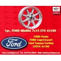 1 pc. cerchio Ford Minilite 7x15 ET+5 4x108