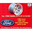 1 Stk. Felge Ford Minilite 9x13 ET-12 4x108