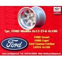 1 pc. jante Ford Minilite 8x13 ET-6 4x108