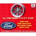 1 Stk. Felge Ford Minilite 7x13 ET-7 4x108 Anthracite