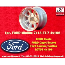 1 pc. cerchio Ford Minilite 7x13 ET-7 4x108