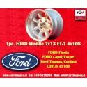 1 pc. Ford Minilite 7x13 ET-7 4x108 wheel