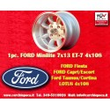 1 Stk. Felge Ford Minilite 7x13 ET-7 4x108
