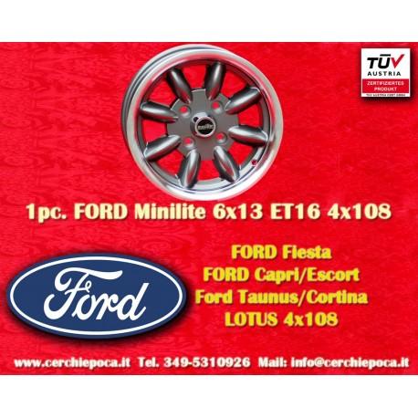 Ford Minilite 6x13 ET16 4x108 Anthracite