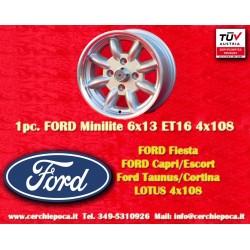 1 pc. jante Ford Minilite 6x13 ET16 4x108