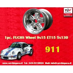 1 pc. Porsche 911 Fuchs 9x15 ET15 5x130 full polished wheel