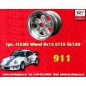1 Stk. Felge Porsche 911 Fuchs 9x15 ET15 5x130 poliert