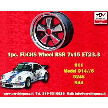 Jante Porsche Fuchs 8x15 5x130 ET10.6 RSR Style