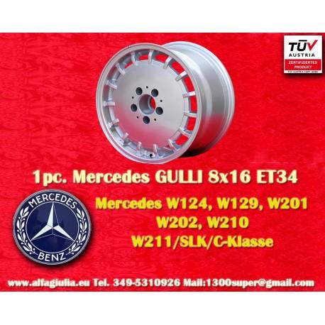 4 Stk. Felgen Mercedes Gullideckel 8x16 ET34 für Mercedes mit TÜV