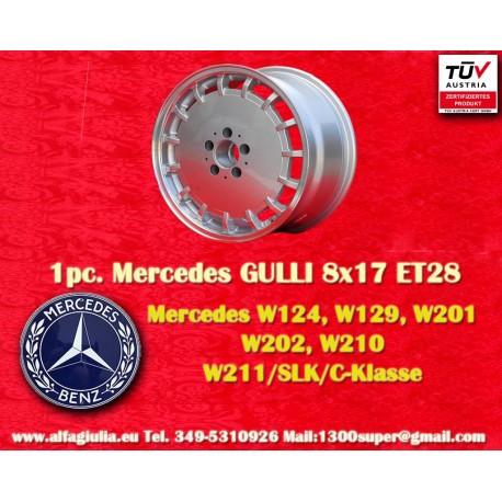 4 Stk. Felgen Mercedes Gullideckel 8x17 ET28 für Mercedes mit TÜV