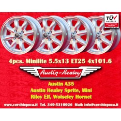4 pcs. Austin Healey 5.5x13 ET25 4x101.6 wheels