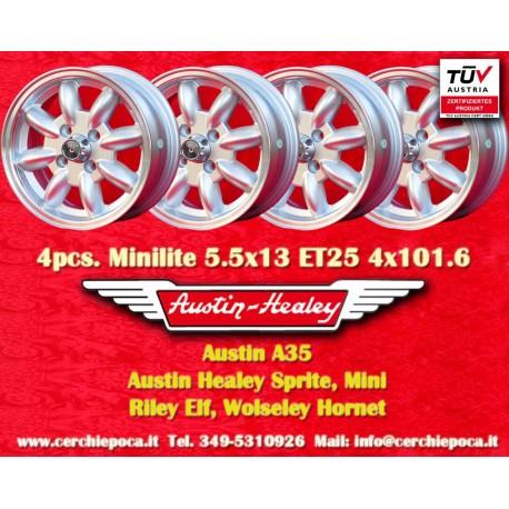 4 pcs. Austin Healey 5.5x13 ET25 4x101.6