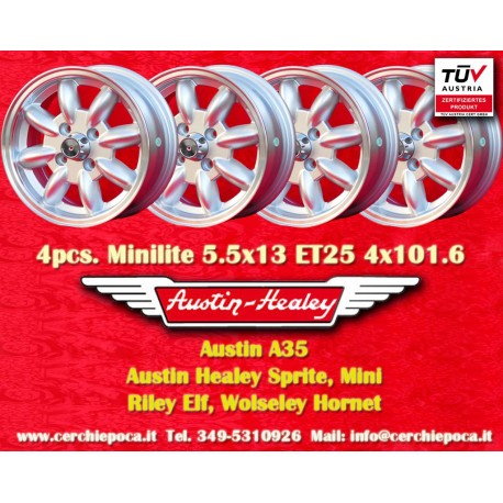 4 pcs. Austin Healey 5.5x13 ET25 4x101.6