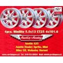 4 pcs. cerchi Austin Healey 5.5x13 ET25 4x101.6