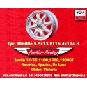 1 pc. Austin Healey 5.5x13 ET25 4x114.3 wheel