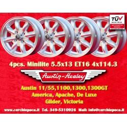 4 pcs. Austin Healey 5.5x13 ET25 4x114.3 wheel