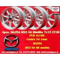 4 Stk. Felgen Mazda MX5 NB/NA Minilite  7x15 ET30 4x100
