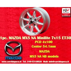 1 pc. Mazda MX5 NB/NA Minilite 7x15 ET30 4x100 wheel