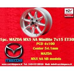 1 pz. llanta Mazda MX5 NB/NA Minilite  7x15 ET30 4x100