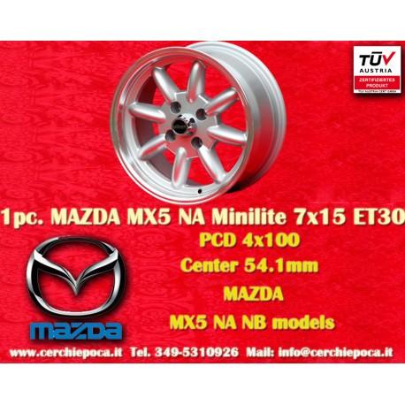 4 Stk. Mazda Minilite  7x15 ET35 4x100