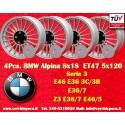 4 pz. llantas Alpina 8x18 ET47 para coches de BMW PCD 5x120