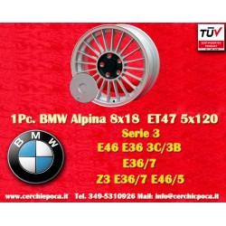 1 pc. wheel BMW Alpina wheels 8x18 ET47 BMW PCD 5x120