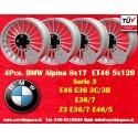 4 pcs. BMW Alpina wheels 8x17 ET46 BMW PCD 5x120 wheels