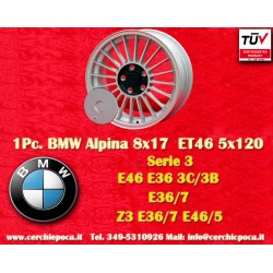 1 pc. wheel BMW Alpina wheels 8x17 ET46 BMW PCD 5x120