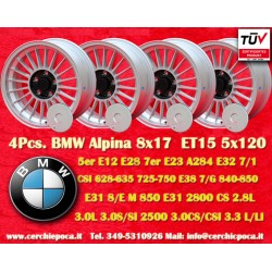 4 pcs. BMW Alpina wheels 8x17 ET15 BMW PCD 5x120 wheels