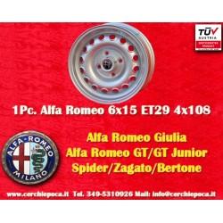1 pc. Alfa Romeo Giulia 6x15 ET28.5 4x108 wheel