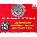 1 pc. cerchio Alfa Romeo Giulia 6x15 ET28.5 4x108