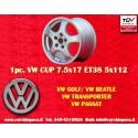 1 pc. Volkswagen CUP 7.5x17 ET38 5x112 wheel