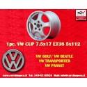 1 pc. Volkswagen CUP 7.5x17 ET38 5x112 wheel