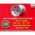 1 pc. wheel Fiat Minilite 8x13 ET-6 4x98