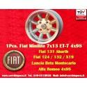 1 pz. llanta Fiat Minilite 7x13 ET-7 4x98