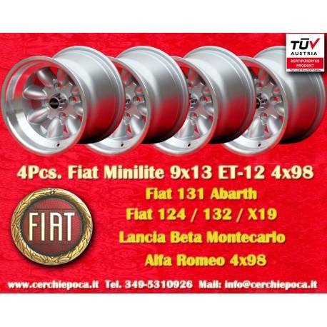 1 Stk. Felge Fiat Minilite 9x13 ET-12 4x98