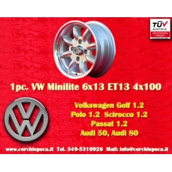 4 pcs. BMW Minilite 6x13 ET13 4x100